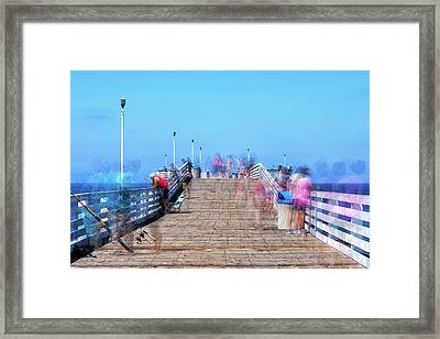 Hanging Out On Crystal Pier Framed Print by Joseph S Giacalone