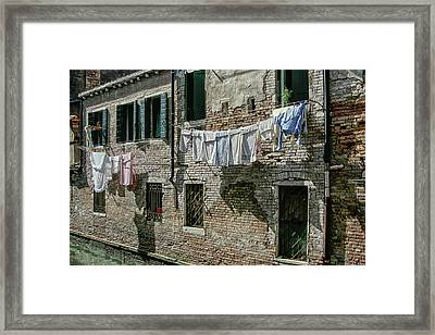 Hanging Out The Flags Framed Print