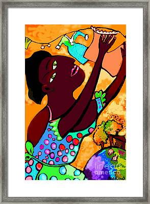 Hanging Out The Laundry 2 Framed Print by Angelina Marino