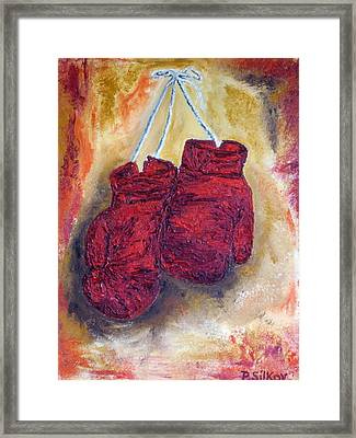 Hanging Up The Gloves Framed Print by Peter Silkov