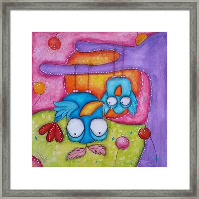 Hanging Upside Down Framed Print