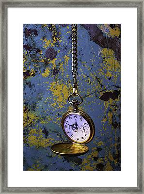 Hanging Watch Framed Print by Garry Gay