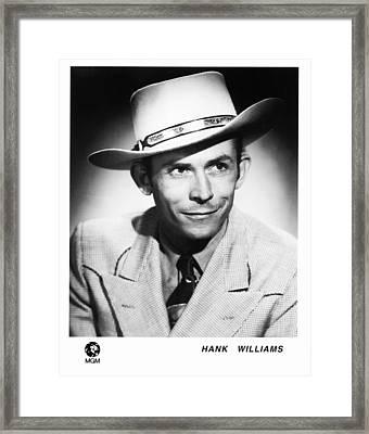 Hank Williams 1948 Framed Print by Mountain Dreams