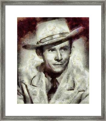 Hank Williams Country Star Framed Print by John Springfield