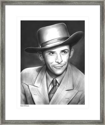 Hank Williams Framed Print by Greg Joens