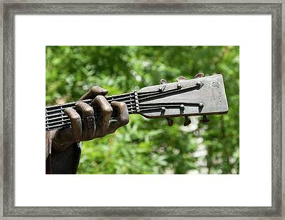 Hank Williams Hand And Guitar Framed Print
