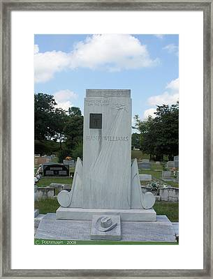 Hank Williams Sr. Headstone Framed Print by Carolyn Postelwait