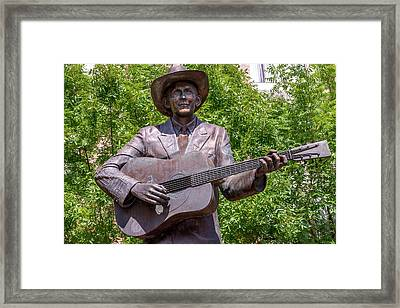 Hank Williams Statue - Cropped Framed Print by Debra Martz
