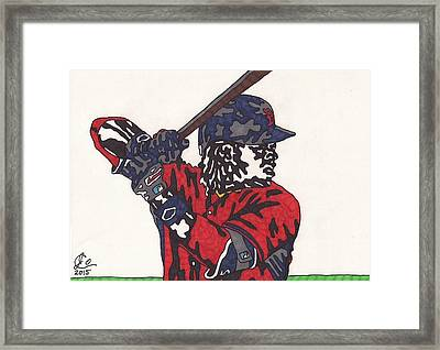 Hanley Ramirez 1 Framed Print by Jeremiah Colley