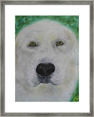 Framed Print featuring the painting Hanmee 1 by Barbara Giordano