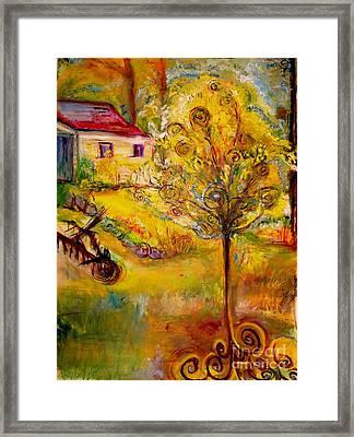 Hannah's Magical Wish Granting Tree Framed Print by Helena Bebirian