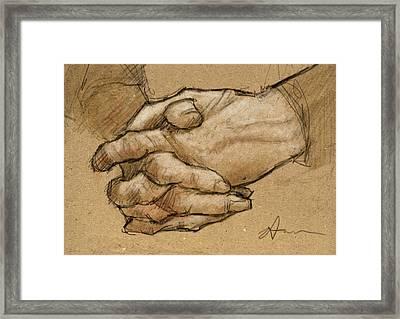 Hanna's Hands Framed Print