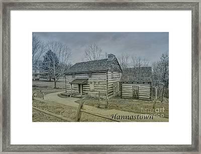 Hannastown Log Cabin One Framed Print by Randy Steele