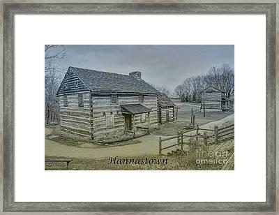Hannastown Log Cabin Two Framed Print by Randy Steele
