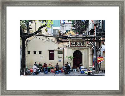 Hanoi Old Quarter 1 Framed Print
