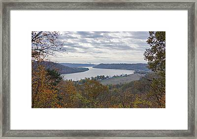 Hanover College View Framed Print by Sandy Keeton