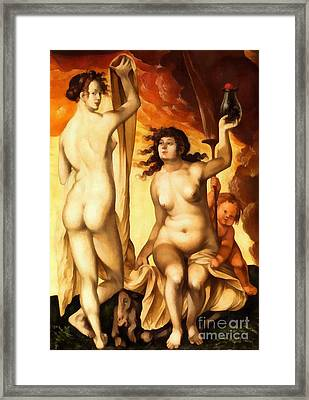Hans Baldung Griens Weather Witches1523 Framed Print