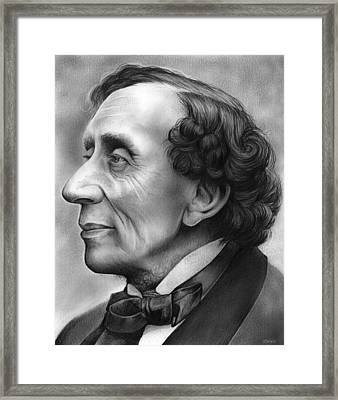 Hans Christian Andersen Framed Print by Greg Joens
