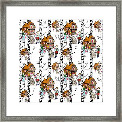 Hansel And Gretel Framed Print by Beth Travers