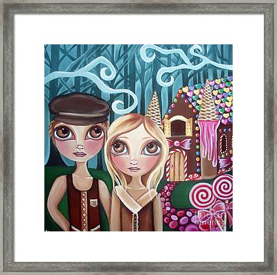 Hansel And Gretel Framed Print by Jaz Higgins