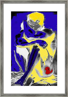 Original Contemporary Painting A Handsome Nude Man Framed Print by RjFxx at beautifullart com