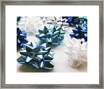 Hanukkah Bows- Photography By Linda Woods Framed Print by Linda Woods