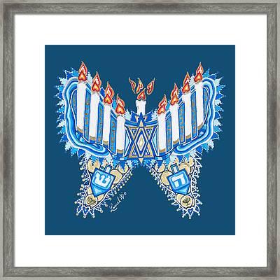 Hanukkah Butterfly Framed Print