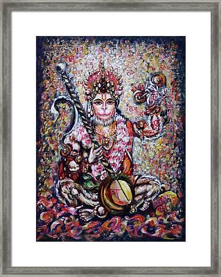 Hanuman - Ecstatic Joy In Rama Kirtan Framed Print