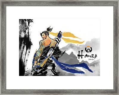 Hanzo Overwatch Framed Print by Haze Long