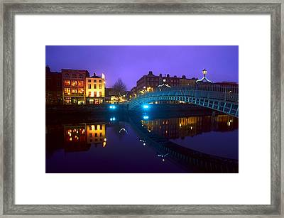 Hapenny Bridge, Dublin, Ireland Framed Print by The Irish Image Collection