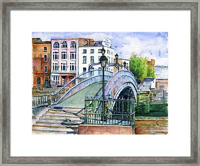 Ha'penny Bridge Dublin Framed Print