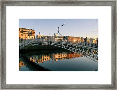 Ha'penny Bridge Framed Print