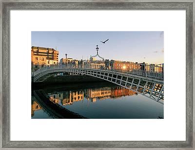 Ha'penny Bridge Framed Print