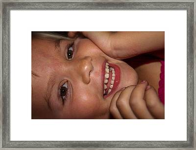 Hapiness Framed Print by Kendall Tabor