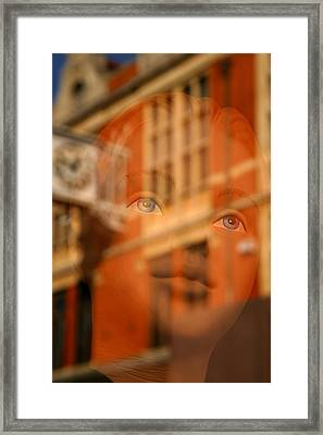 happier Lucy Framed Print by Jez C Self