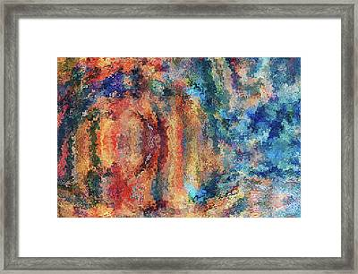 Happines Abstract Grunge Framed Print