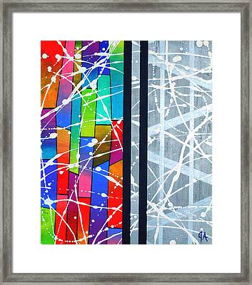 Happiness Against The Steel Framed Print by Jeremy Aiyadurai