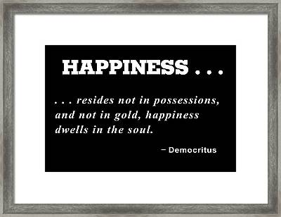 Happiness Framed Print