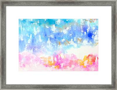 Happiness Has Arrived Framed Print by Cathy Jacobs
