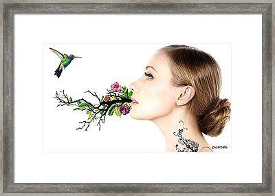 Happiness Is A State Of Mind Framed Print by Paulo Zerbato