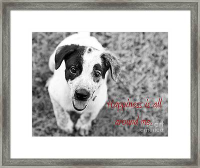 Happiness Is All Around Me Framed Print by Amanda Barcon