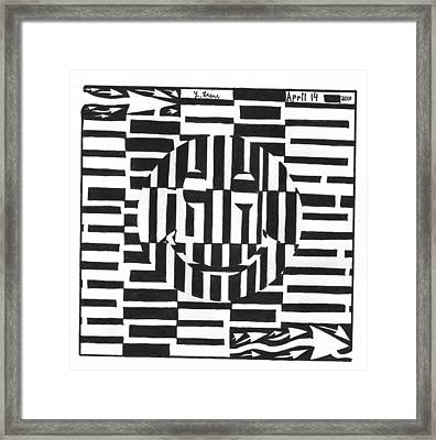 Happiness Is An Illusion Maze Framed Print by Yonatan Frimer Maze Artist
