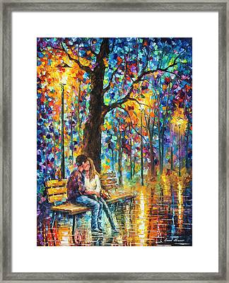 Happiness   Framed Print by Leonid Afremov
