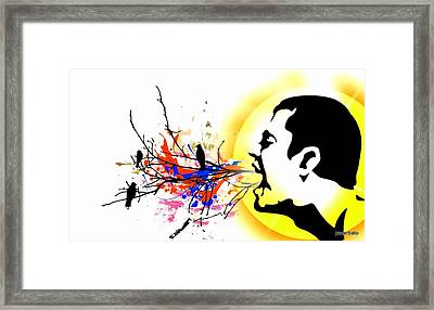 Happiness Must Be Born Within Us 1 Framed Print