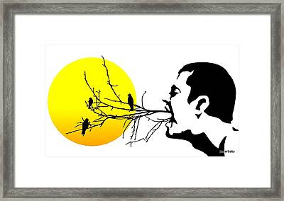 Happiness Must Be Born Within Us 2 Framed Print