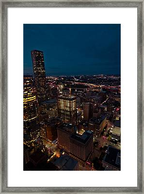 Happiness On The 45th Floor Framed Print
