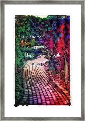 Happiness Path Framed Print by Christine Paris