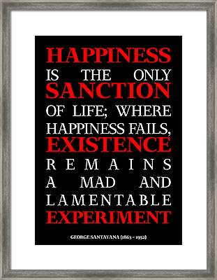 Happiness And Existence Poster Framed Print by Eyad Al-Samman