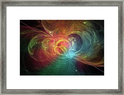 Happiness Unlimited #art #abstract Framed Print by Michal Dunaj