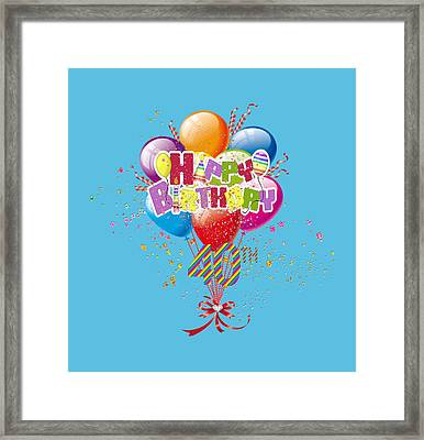 Happy 40th Birthday Framed Print by DMiller